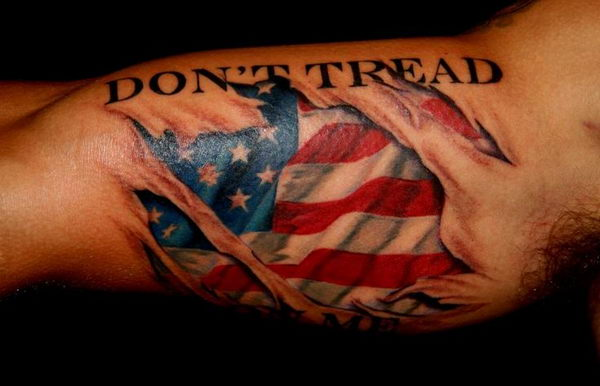 3D American Flag Tattoo 7