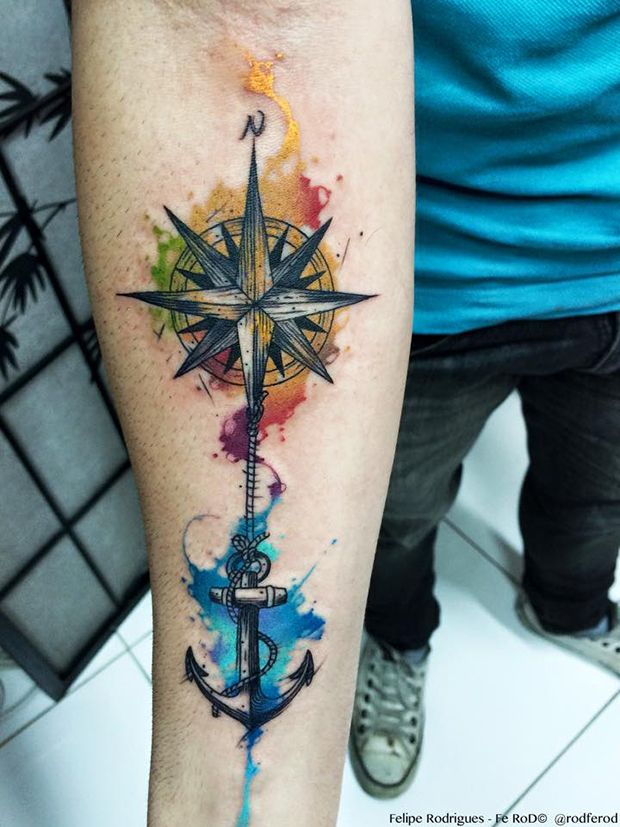 anchor tattoos forearm