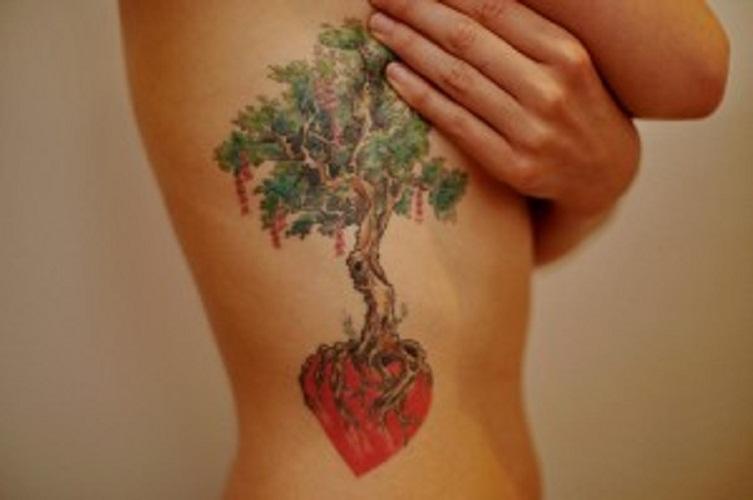 tree of life tattoo ribs