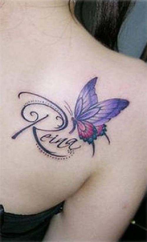 shoulder tattoos butterfly name