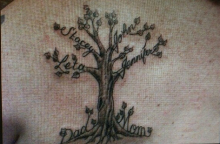 tree of life tattoo chest