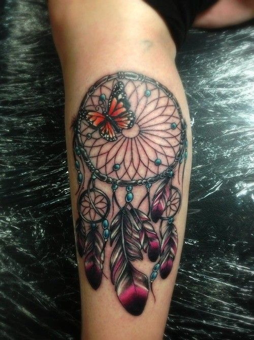 dream catcher tattoo arm