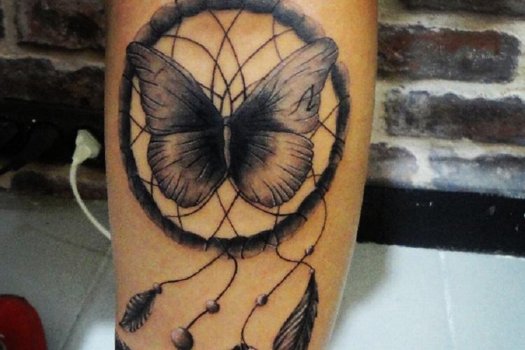 dream catcher tattoo arm