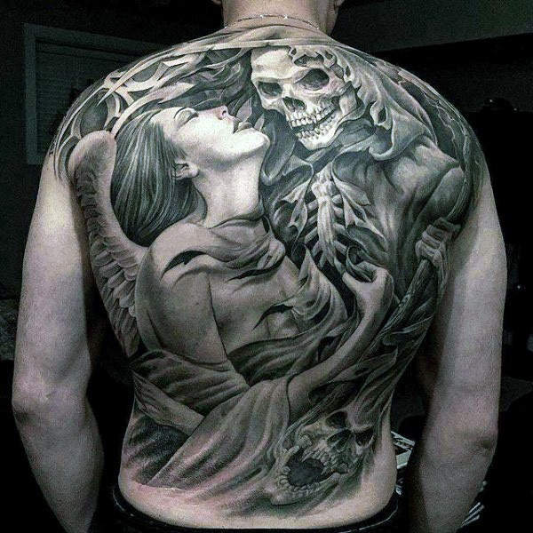 19b23dad2 50+ Heavenly Angel Tattoo Designs That Are Pure Heaven - Tats 'n' Rings