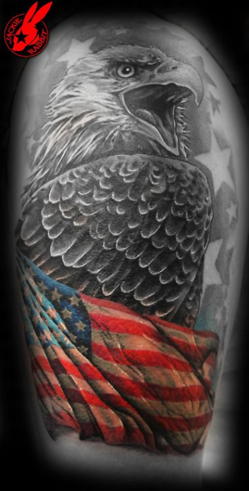 Eagle American Flag Tatttoo 5