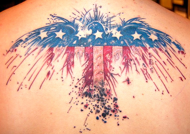 Eagle American Flag Tatttoo 8