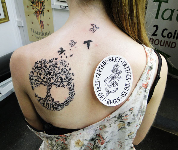 tree of life tattoo back