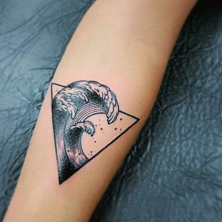 Geometric Wave Tattoo 1