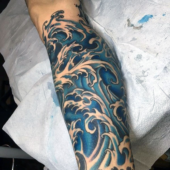 Japanese Wave Tattoo 1