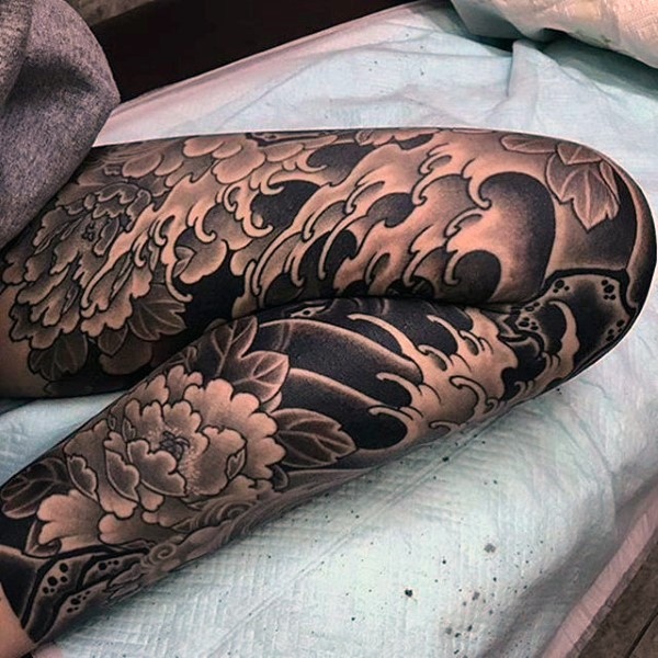 Japanese Wave Tattoo 10