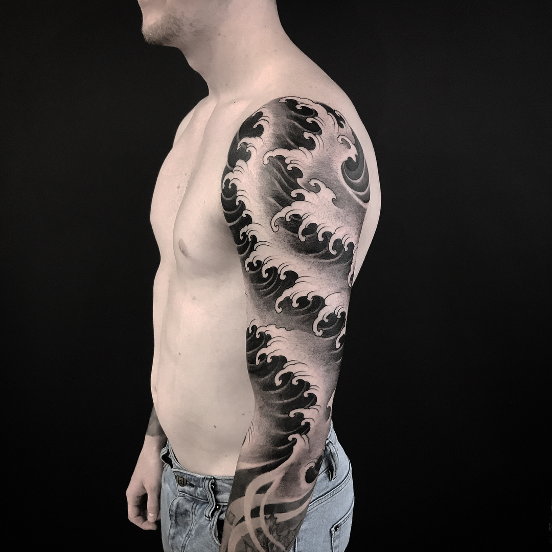 Japanese Wave Tattoo 2