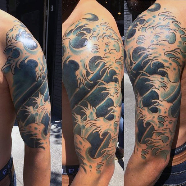 Japanese Wave Tattoo 3