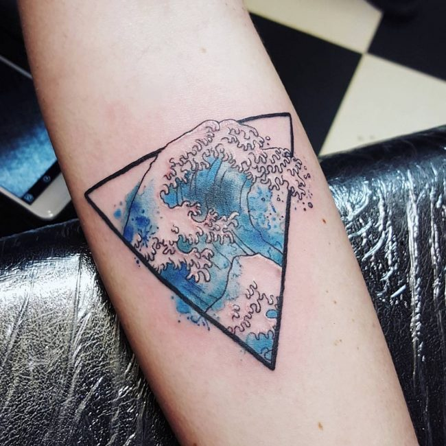 Japanese Wave Tattoo 9