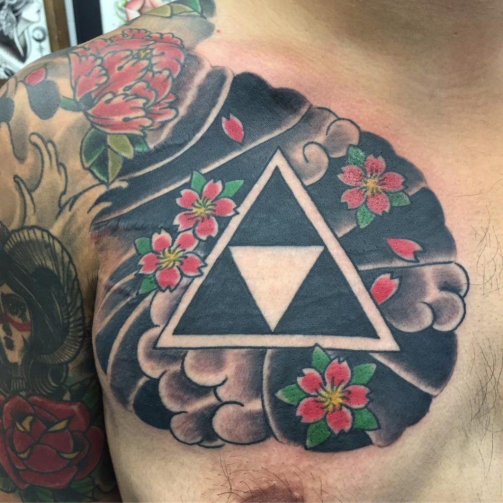 triforce tattoo chest