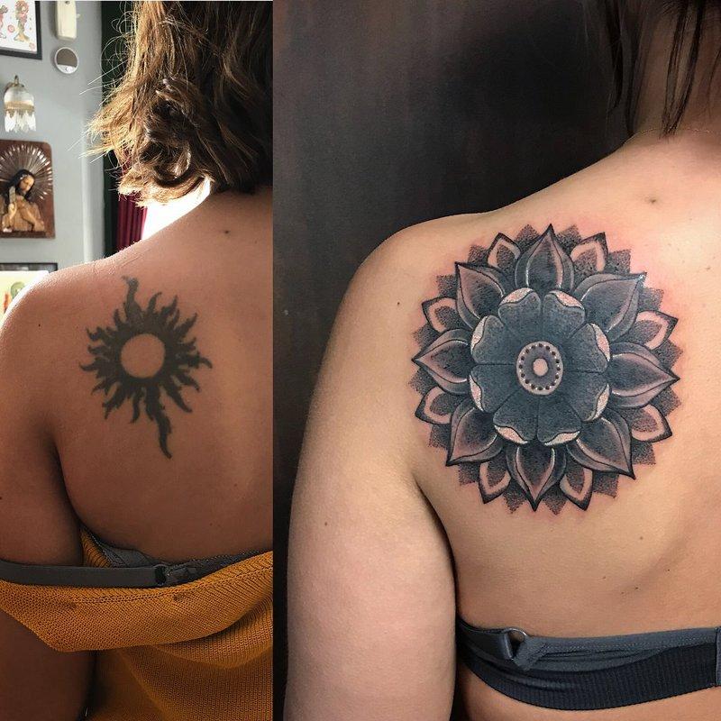 Mandala Cover Up Tattoo 7