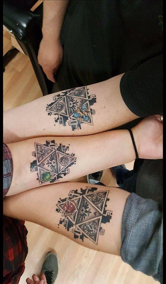 triforce tattoo forearm