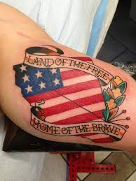 Men American Flag Tattoo 10