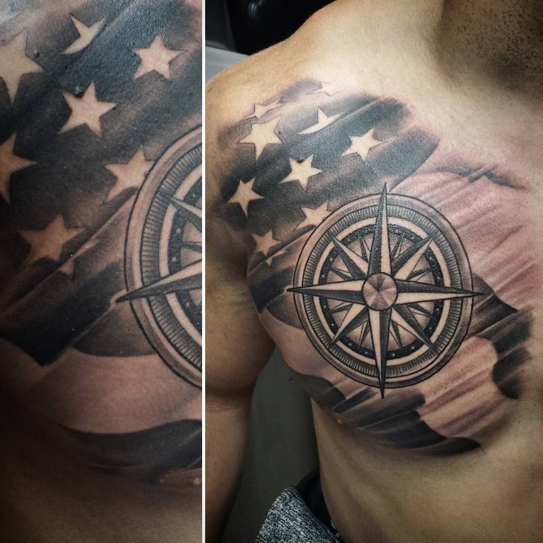 Men American Flag Tattoo 3