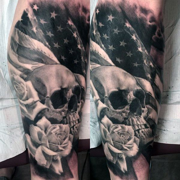 Men American Flag Tattoo 5