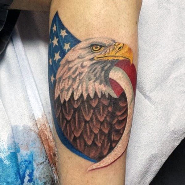 Men American Flag Tattoo 8