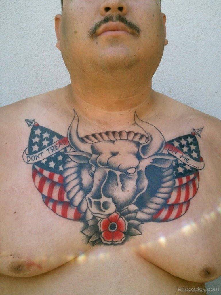 Men American Flag Tattoo 9
