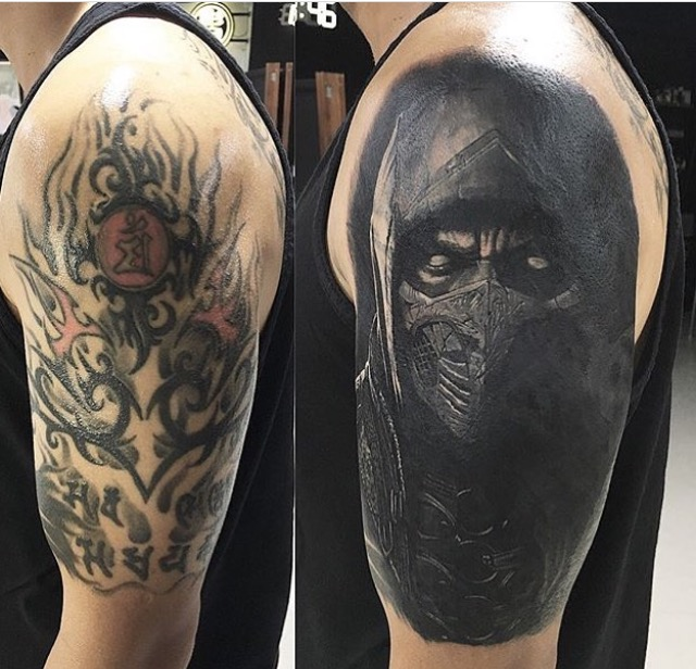Men Cover Up Tattoo 8