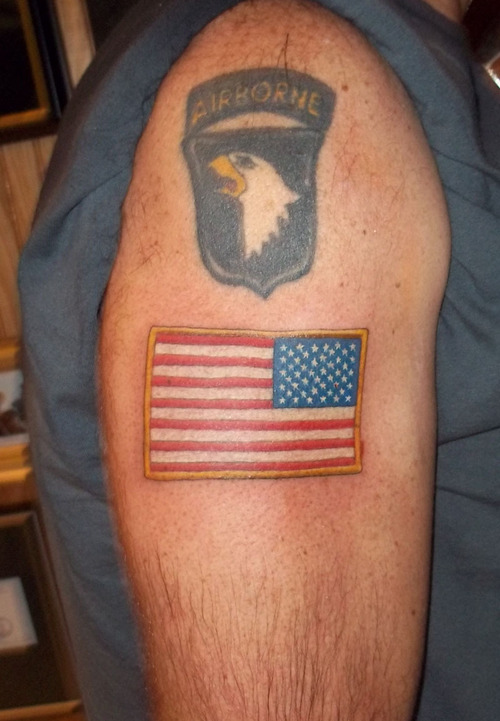 Military American Flag Tattoo 4
