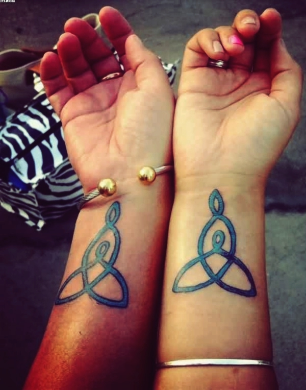 celtic knot mother and daughter tattoos