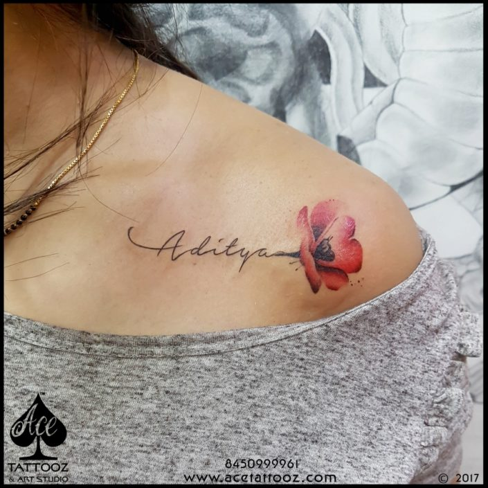 shoulder tattoo flower name