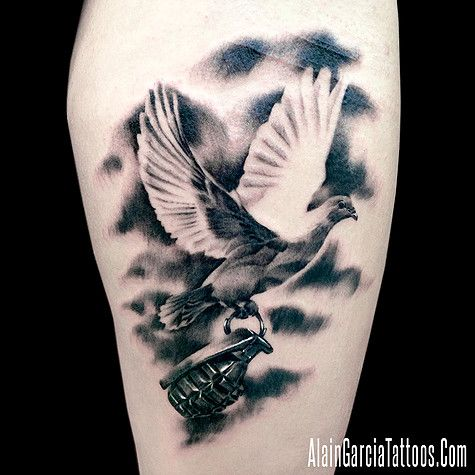 Realistic Dove Tattoo 7