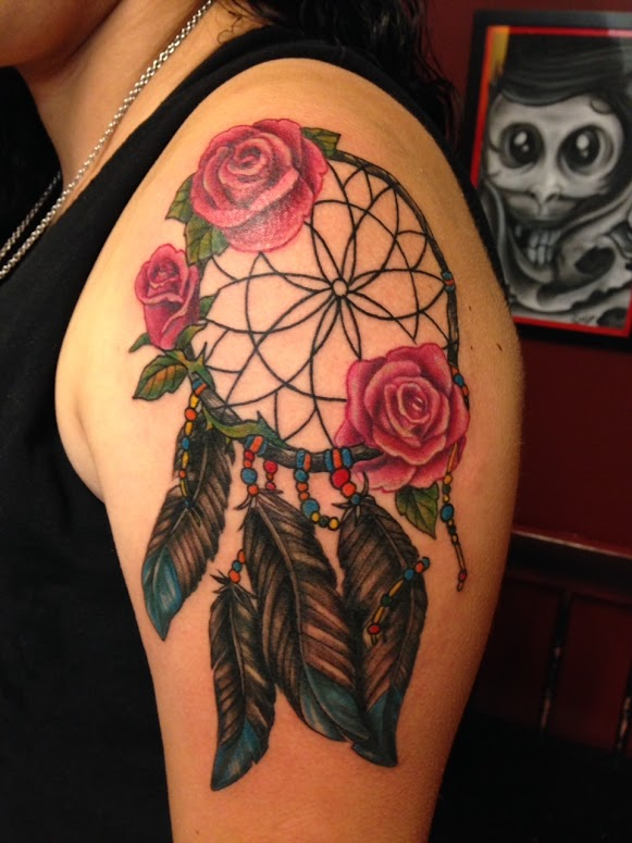 dreamcatcher tattoo arm