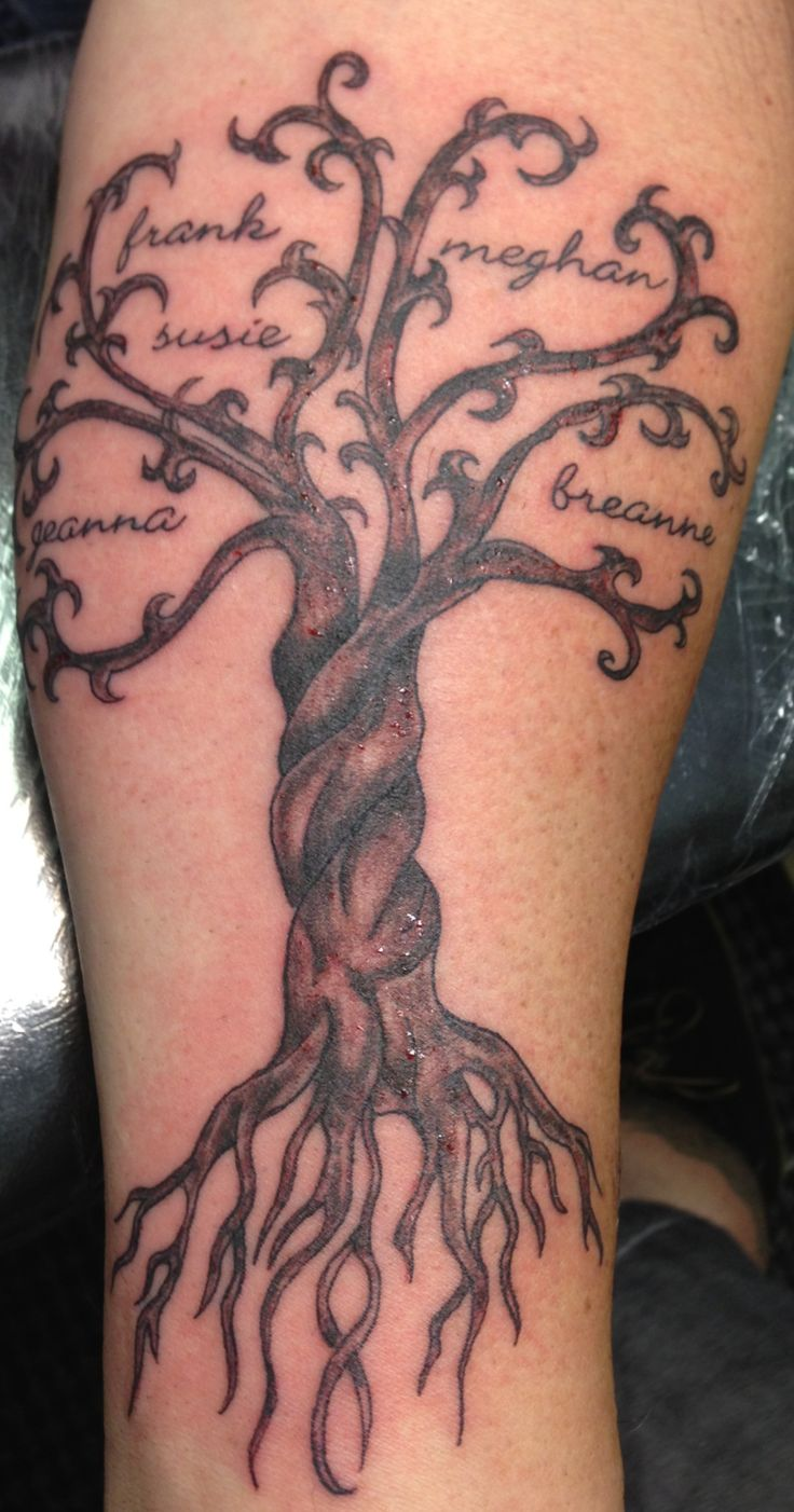 tree of life tattoo forearm