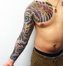 Wave Tattoo For Men 5