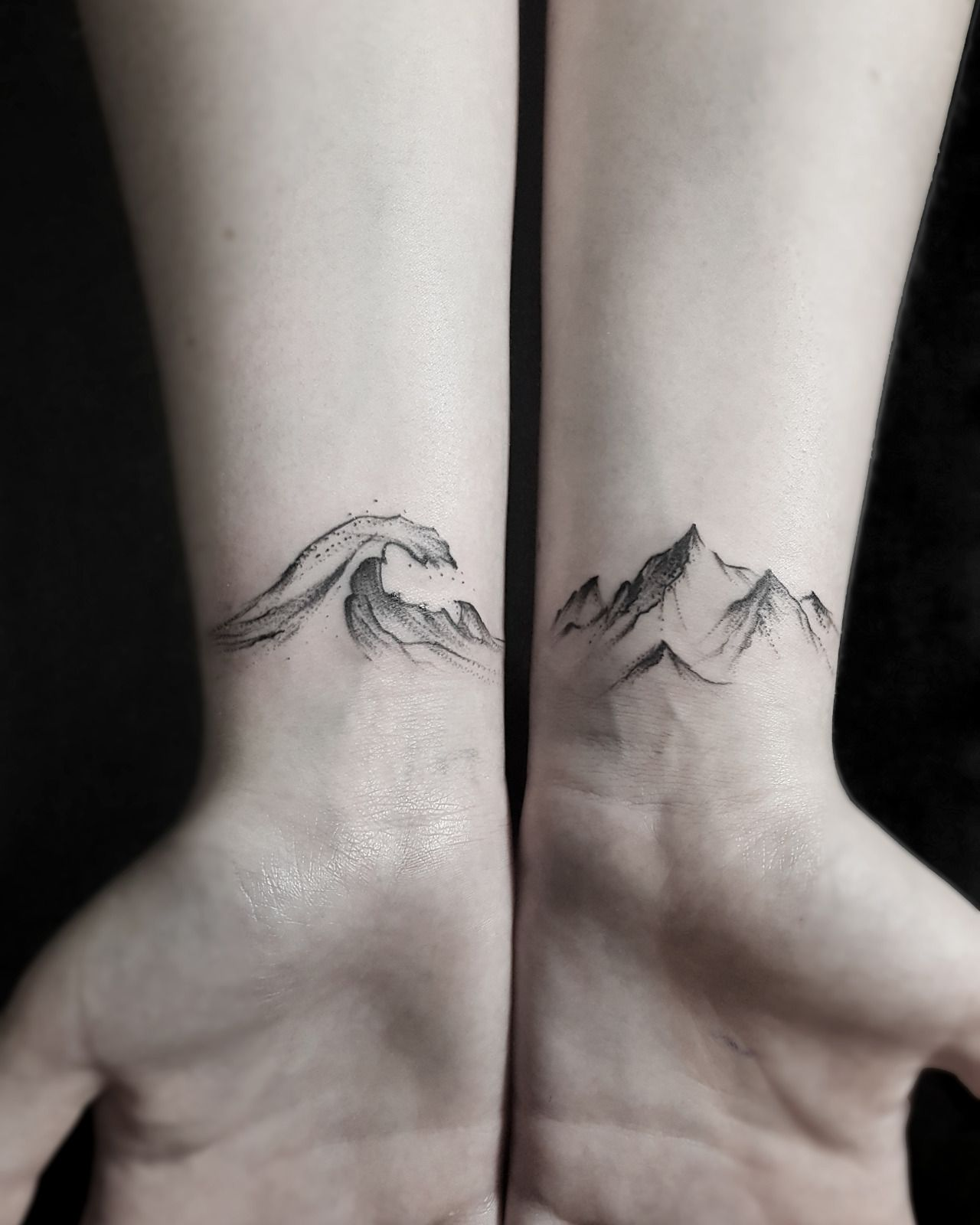 Wave Tattoo For Women 2