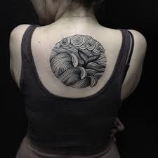 Wave Tattoo For Women 8