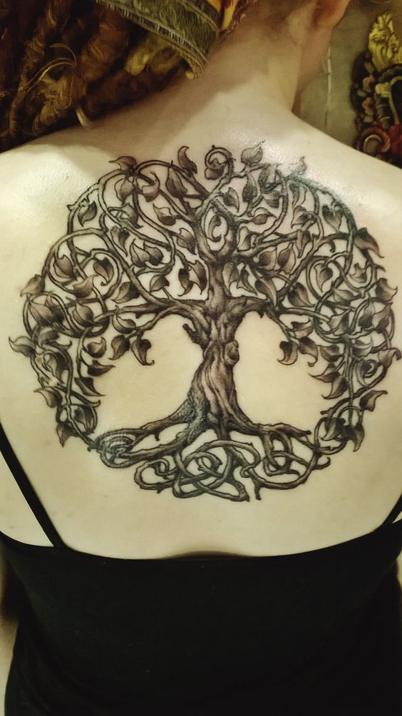 celtic tree of life back tattoo
