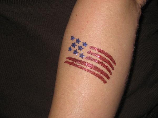 Women American Flag Tattoo 2