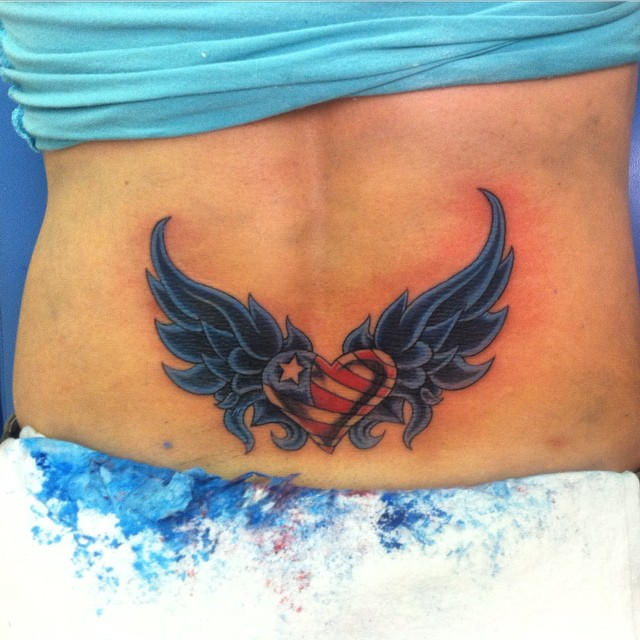 Women American Flag Tattoo 6