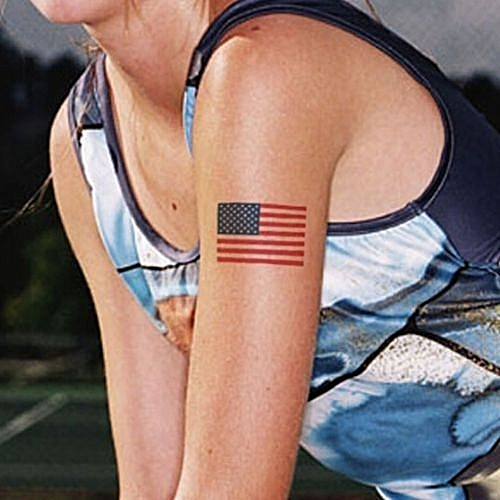 Women American Flag Tattoo 9