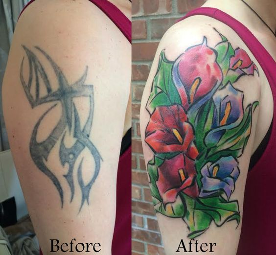 Women Cover Up Tattoo 9