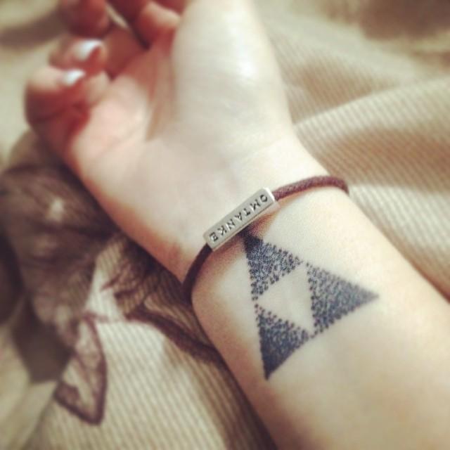 triforce tattoo wrist