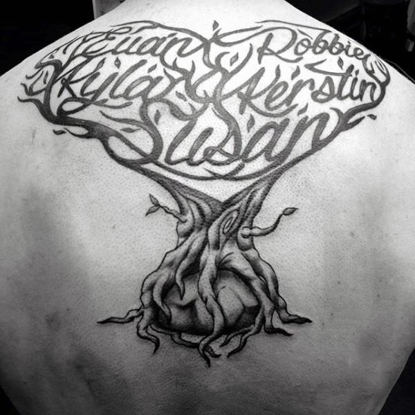 tree of life tattoo back