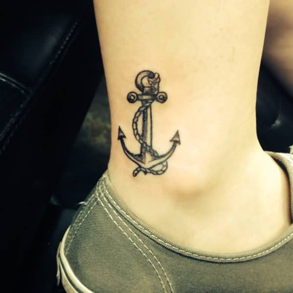 anchor tattoos ankle