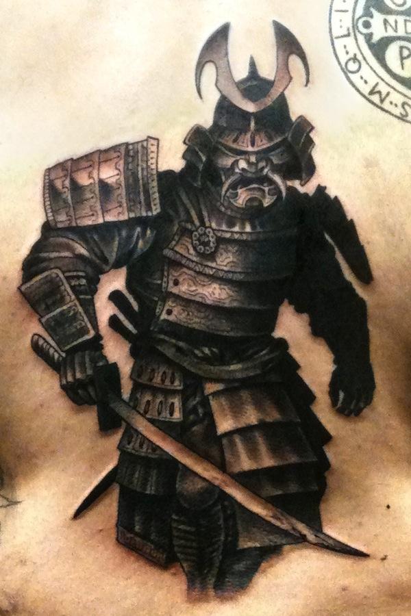 armor samurai tattoo 5