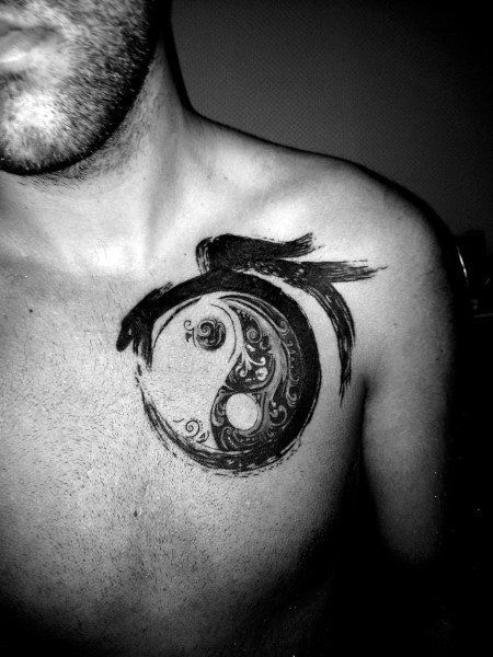 brush yin yang tattoo 6