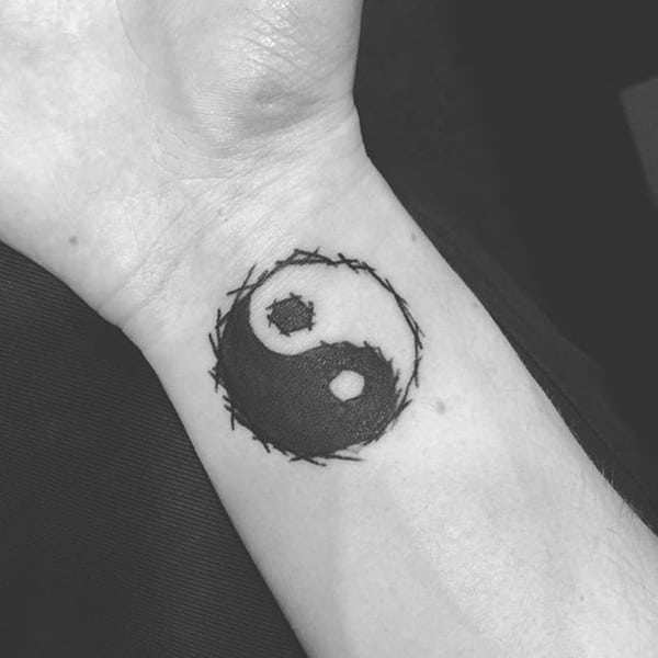 brush yin yang tattoo 7