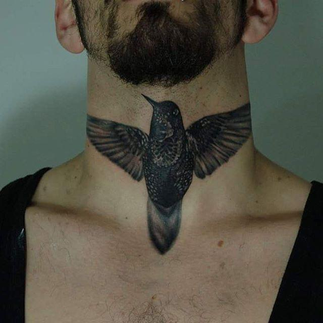 hummingbird tattoo men