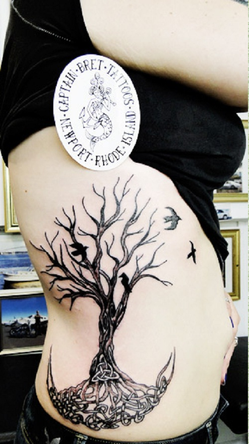 tree of life tattoo ribs