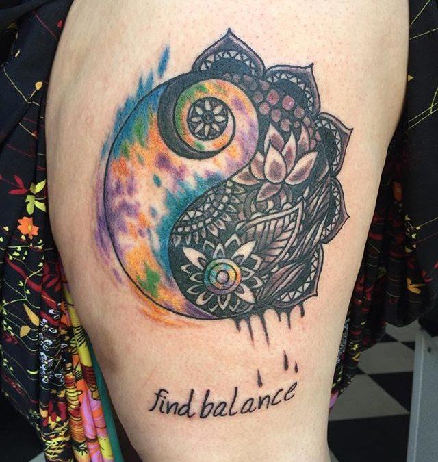 creative yin yang tattoo 2