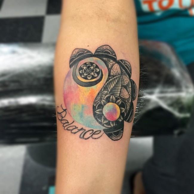 creative yin yang tattoo 5